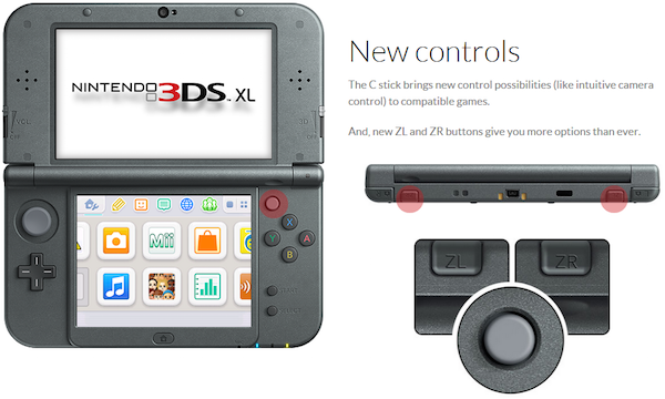Nieuwe features van de New Nintendo 3DS XL